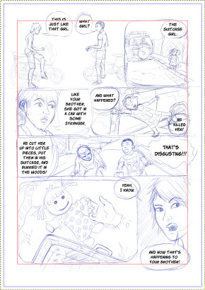 Panels and Gutters, sample page.