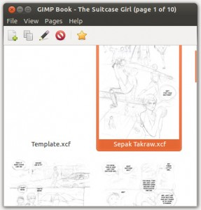 GIMP Book interface.